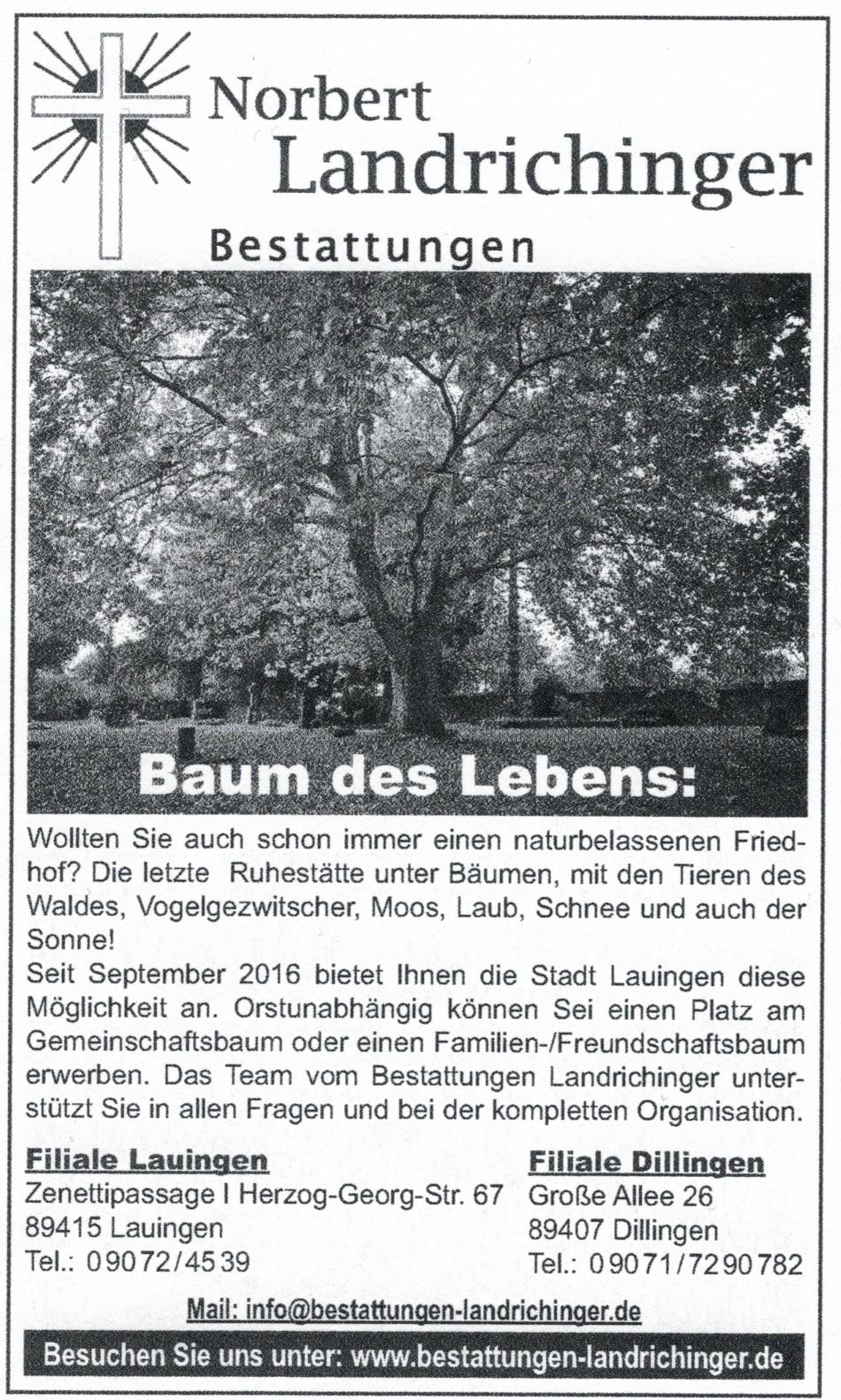Naturfriedhof in Lauingen